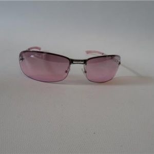 CHRISTIAN DIOR  3 PINK SILVER RIMMED SUNGLASSES
